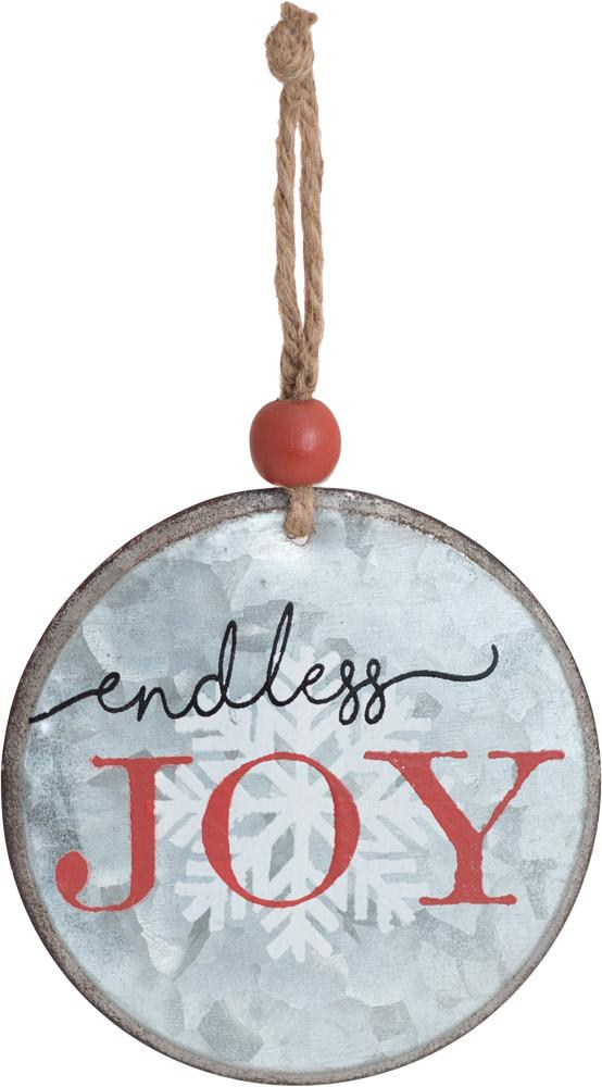 Endless Joy Round Metal Ornament - Carpentree