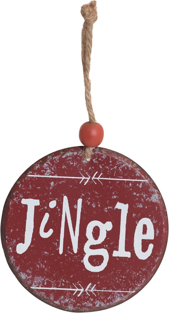 Jingle Round Metal Ornament - Carpentree