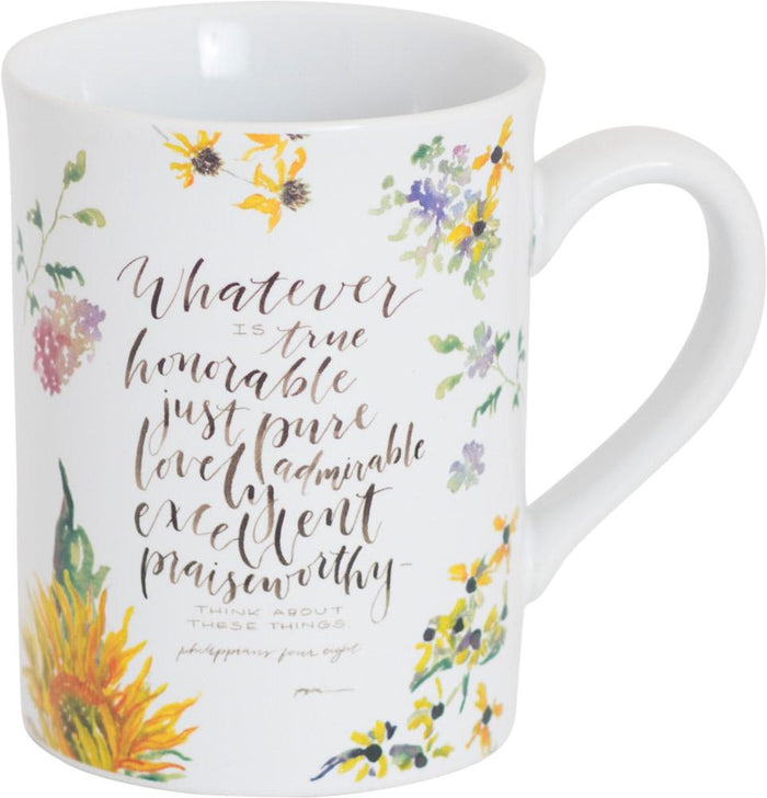 Whatever Is True Mug - GraceLaced For Carpentree