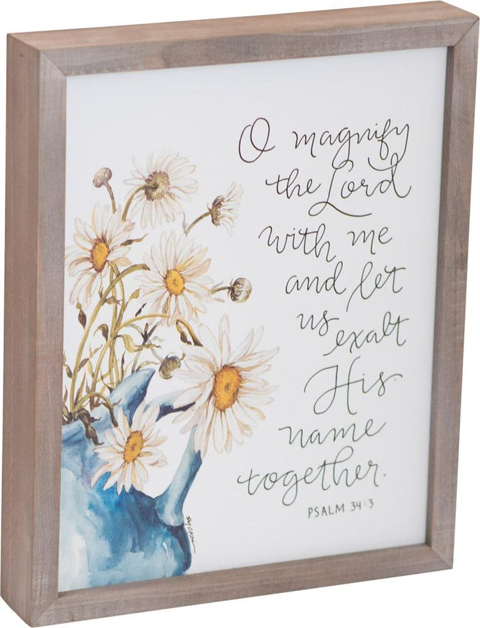 Magnify the Lord Framed Art - GraceLaced For Carpentree - Carpentree