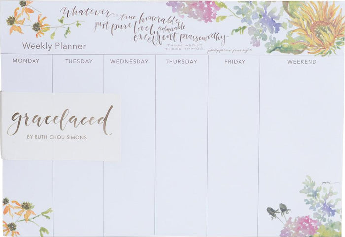 Whatever Is True Weekly Planner - GraceLaced For Carpentree