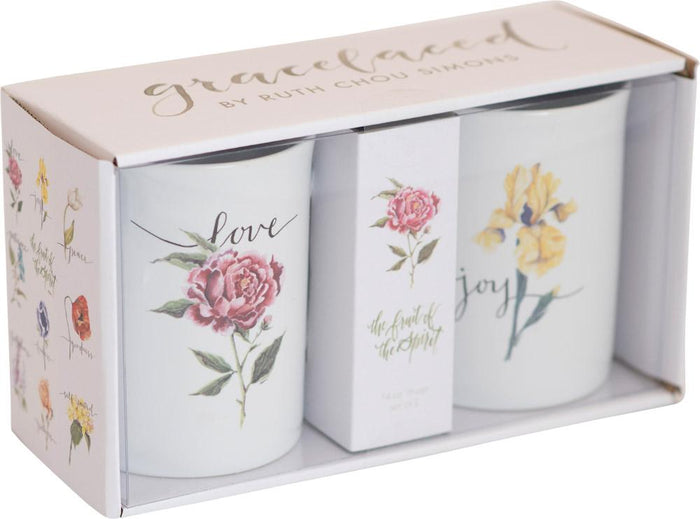 Fruit of the Spirit Joy and Love Ceramic Mug Set - GraceLaced For Carpentree - Carpentree