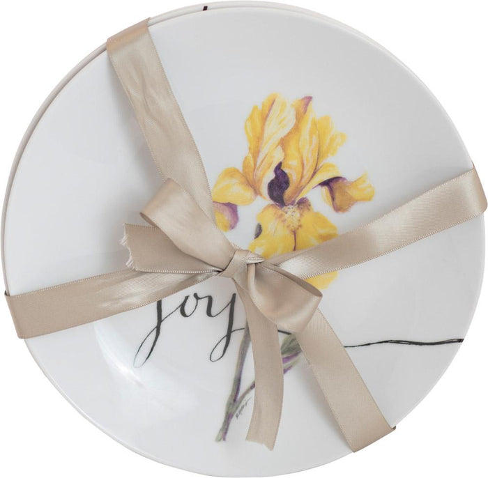 "Fruit of the Spirit 8"" Ceramic Plate Set - GraceLaced For Carpentree - Carpentree"