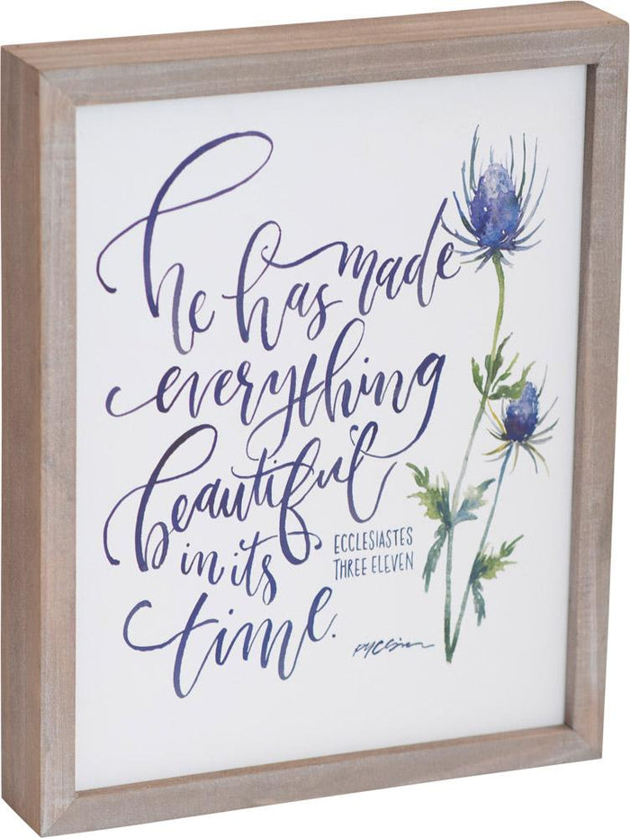 Everything Beautiful Framed Plaque - Carpentree