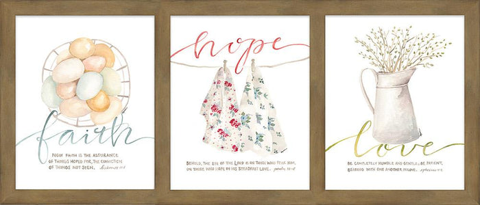 Faith, Hope & Love Framed Art - Carpentree