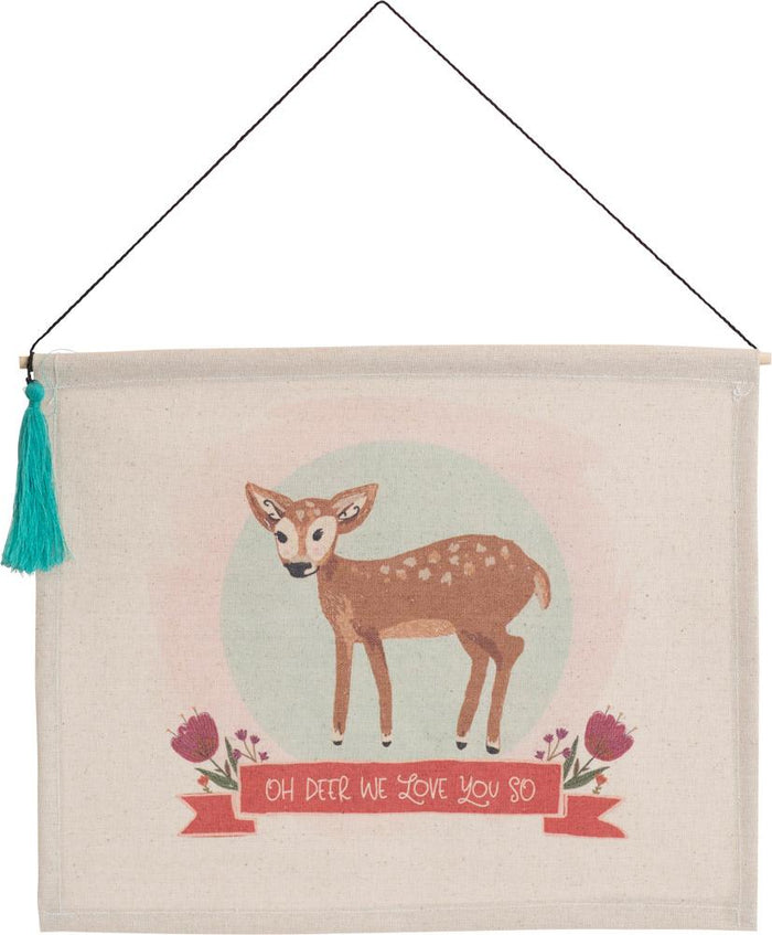 Oh Deer Hanging Banner with Tassel - Carpentree