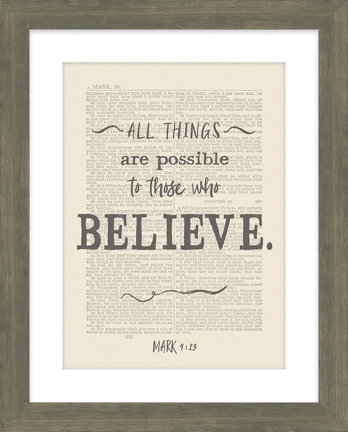 All Things are Possible Framed Art - Carpentree