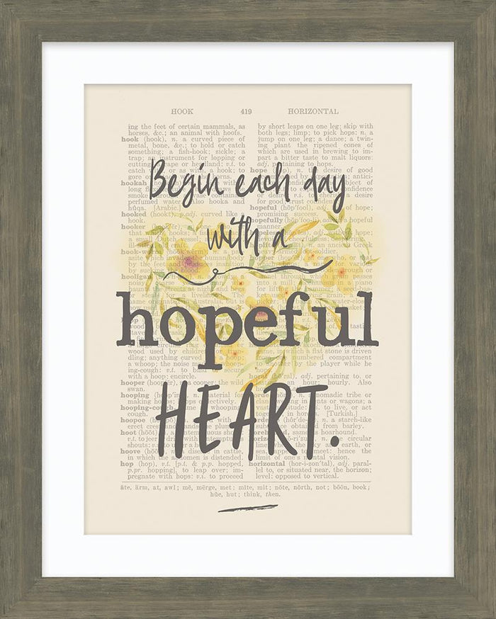 Hopeful Heart Framed Art - Carpentree