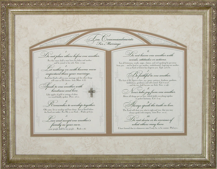 Ten Commandments for Marriage Framed Art ( All Time Bestseller!) - Carpentree