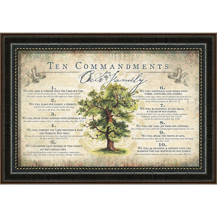 The Ten Commandments For Our Family - Carpentree