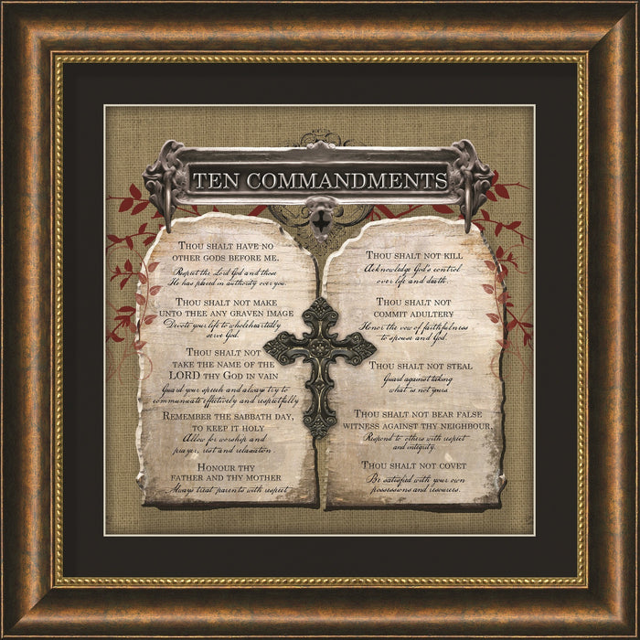 Ten Commandments Framed Art - Carpentree