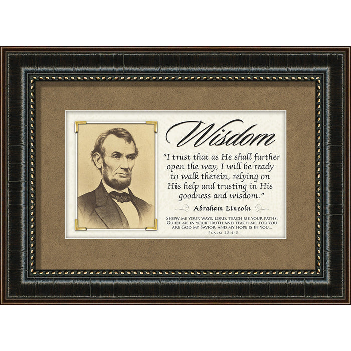 Wisdom - Abraham Lincoln Quote Framed Art