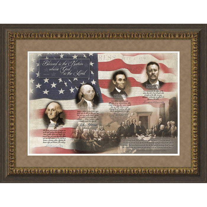 Patriotic Quotes Framed Art