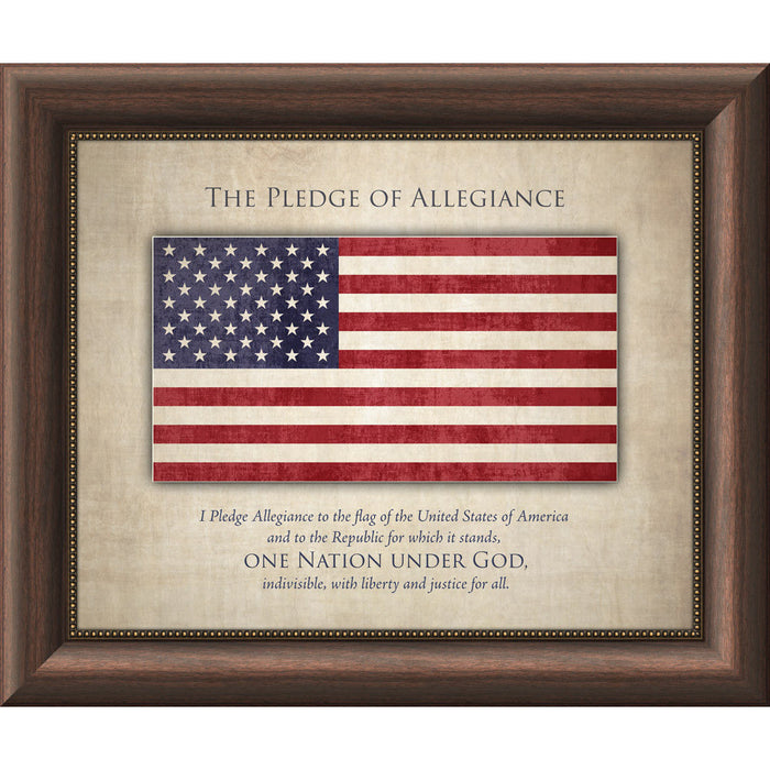 Pledge of Allegiance Framed Art