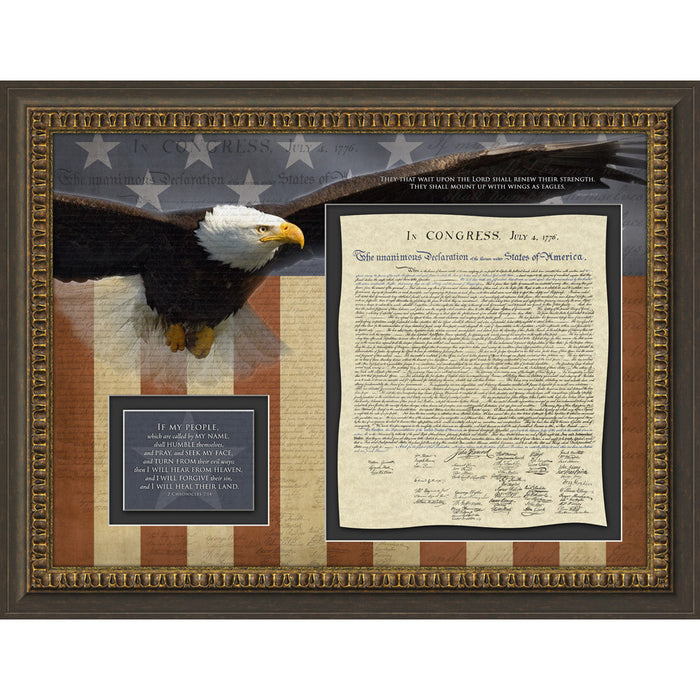 Declaration of Independence Framed Art - Carpentree