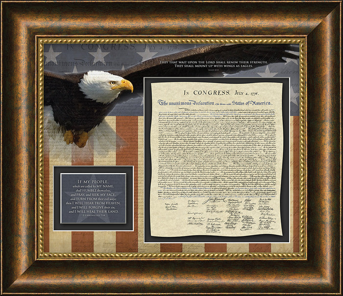 If my People Declaration of Independence Framed Art