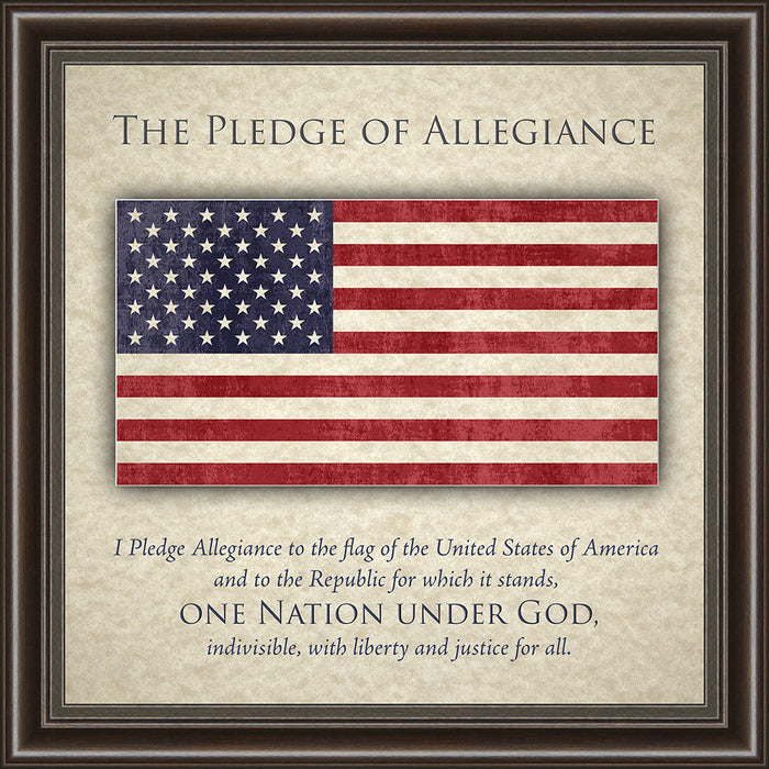 The Pledge of Allegiance Framed Art
