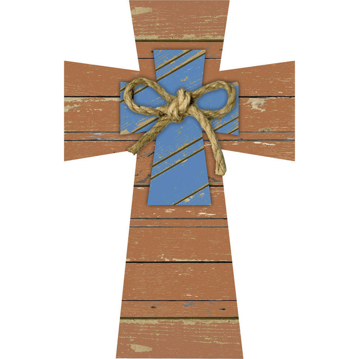 Layered Cross with Rope Bow