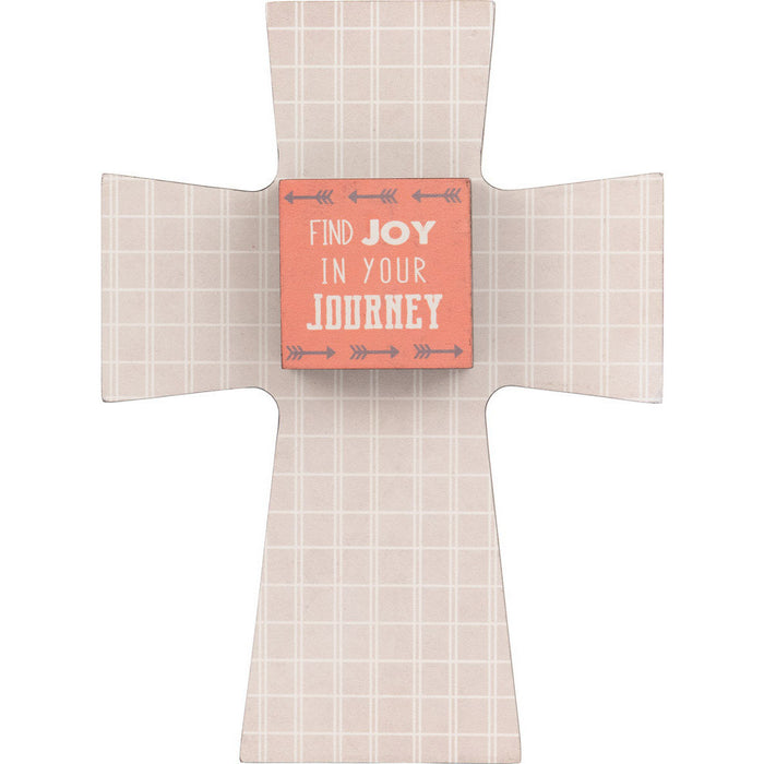Find Joy In Your Journey Layered Cross