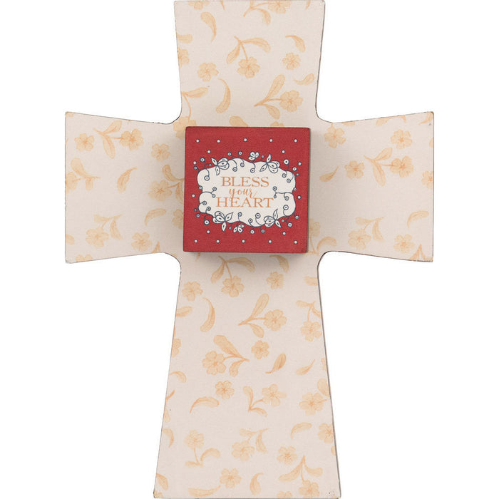 Bless Your Heart Layered Cross