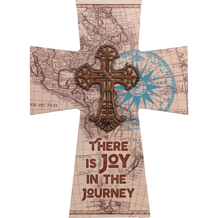 Find Joy In The Journey Cross Maps with Attached Metal Cross