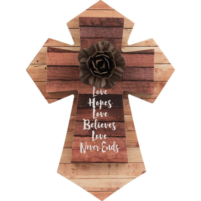 Love Hopes Layered Wall Cross