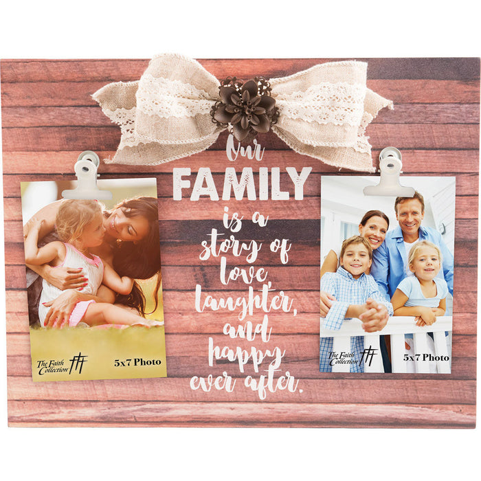 Our Family Large Plaque with 2 Clips
