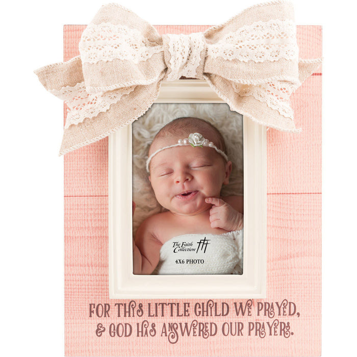 For This Child Baby Girl Frame with Moulding