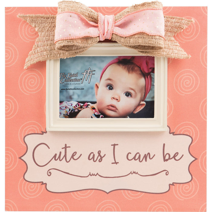 Cute As I Can Be Baby Girl Large Frame