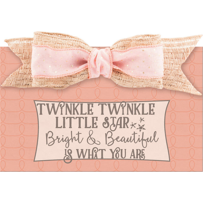 Twinkle Twinkle Baby Girl Wall Plaque