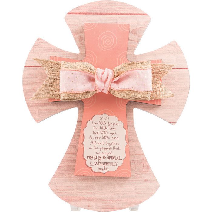Ten Little Baby Girl Layered Wall Cross