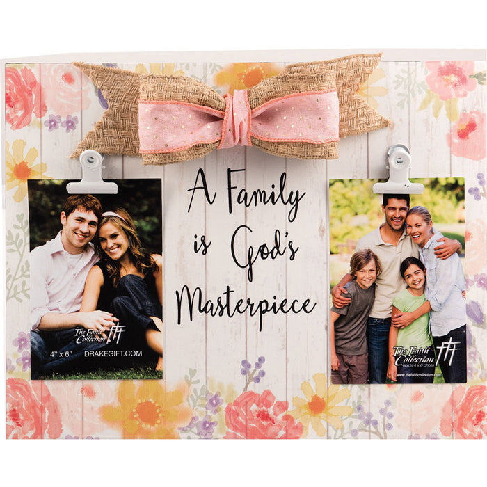 Our Family Is God's Masterpiece Large Plaque