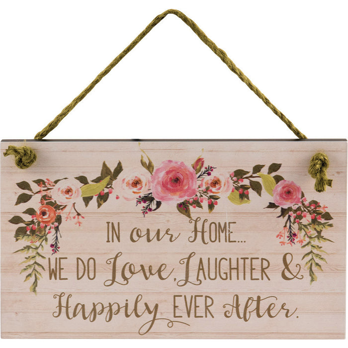 In Our Home We Do Wall Plaque