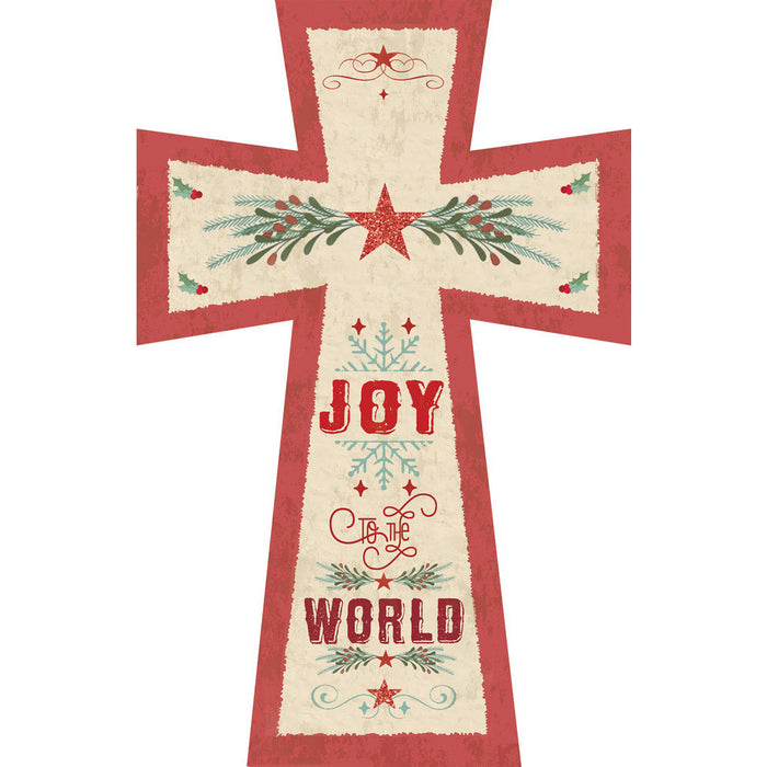Joy To The World Cross with Glitter