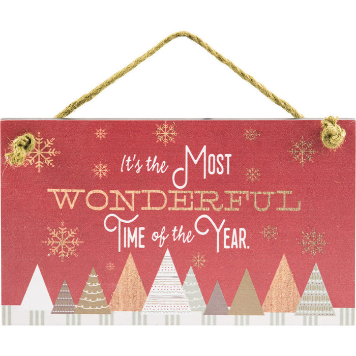 It's The Most Wonderful Hanging Wall Plaque with Glitter