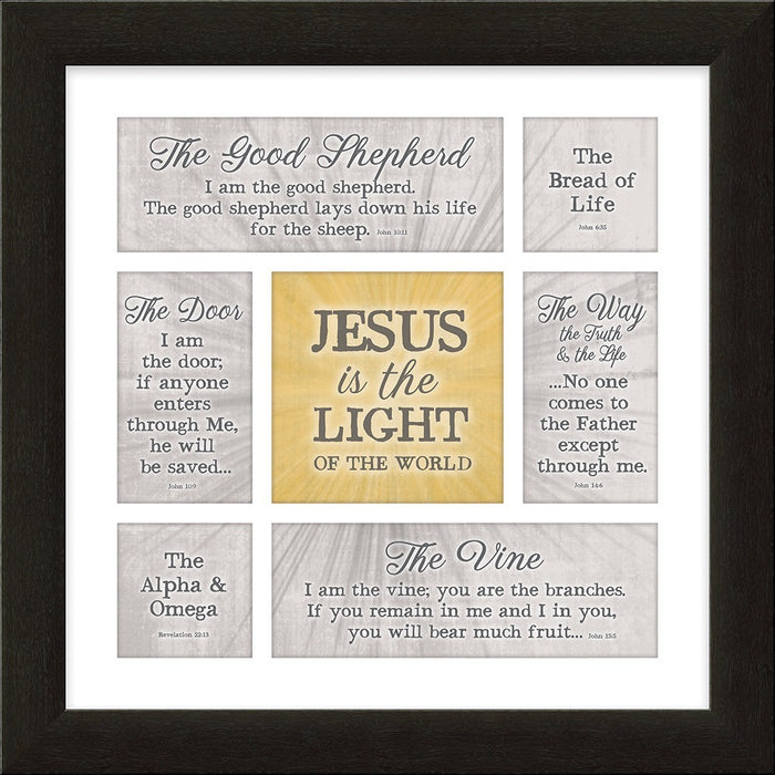 Jesus Is the Light Framed Art