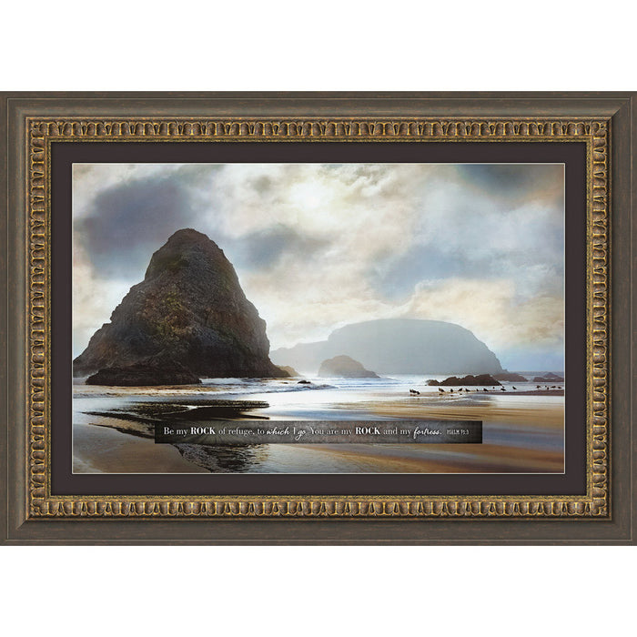 Another Place To Be, Be My Rock Framed Art