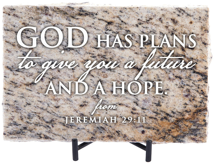 God Has Plans Granite Gift - Carpentree