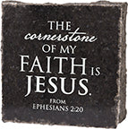 The Cornerstone Of My Faith - Granite Gift