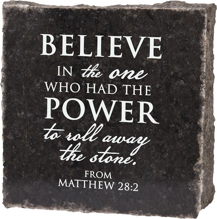 Believe In The One Granite Plaque (41528) - Carpentree