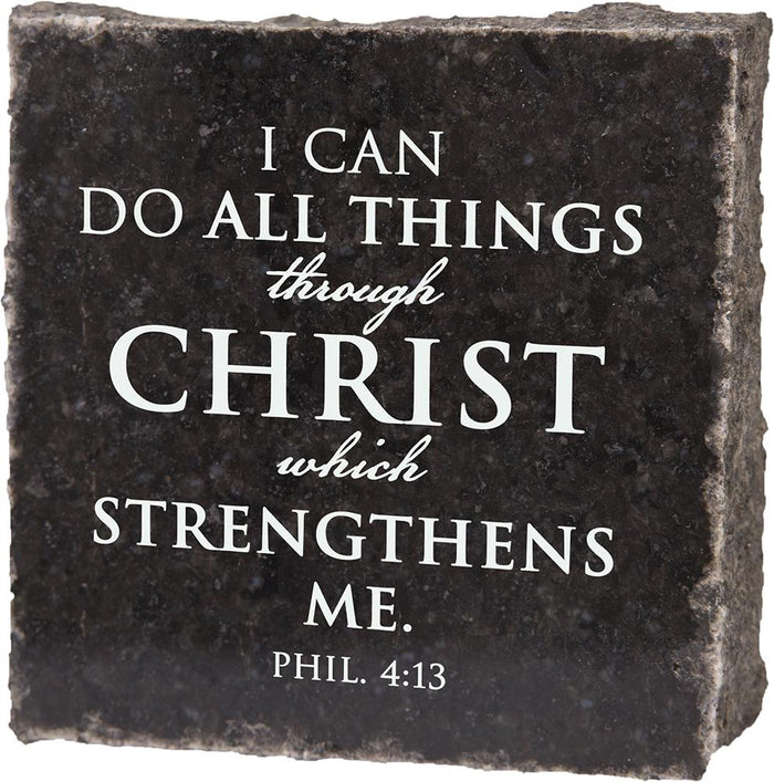 I Can Do All Things Granite Plaque (41529) - Carpentree