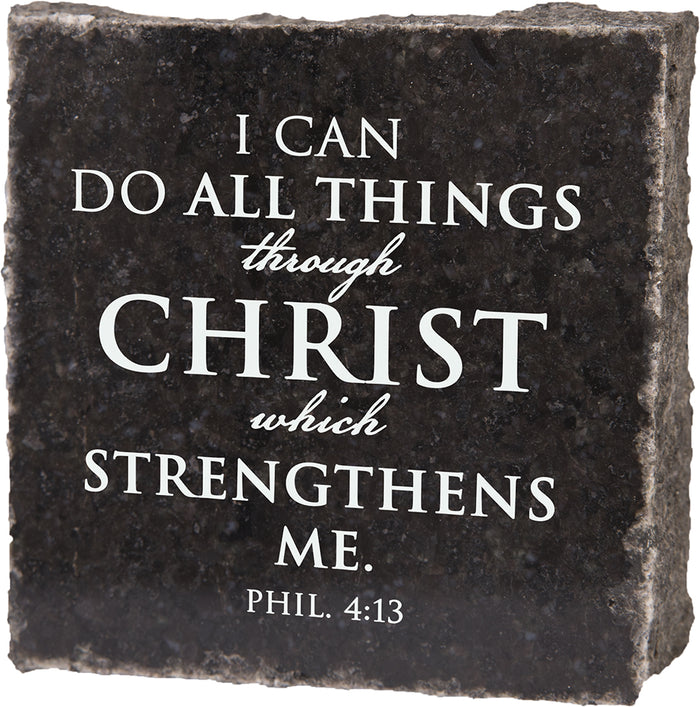 I Can Do All Things Through Christ - Granite Gift - Carpentree