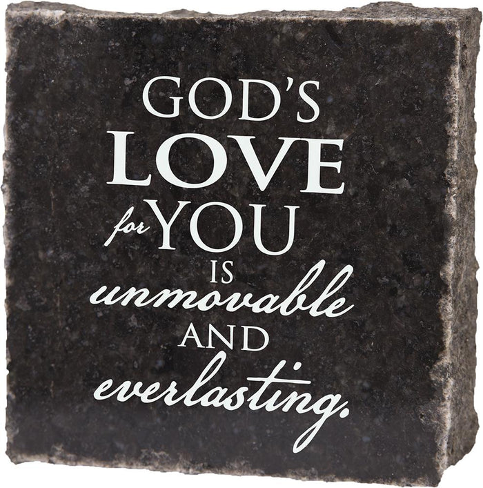 God's Love For You Granite Plaque (41530) - Carpentree