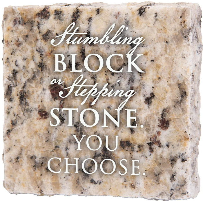 Stumbling Block Granite Plaque (41533)