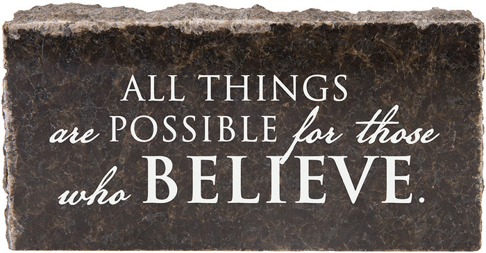 All Things Are Possible - Granite Gift