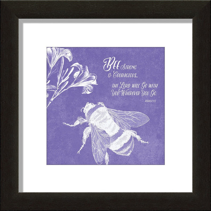 Be(E) Strong and Courageous Framed Art