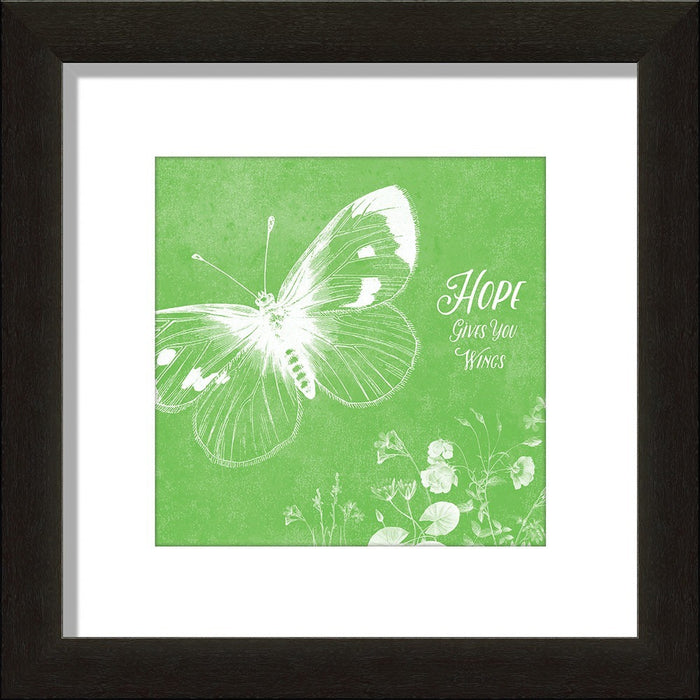 Hope Gives You Wings - Butterfly Framed Art