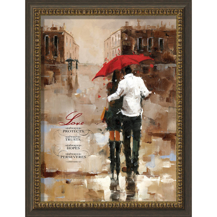 Love Always Protects Framed Art