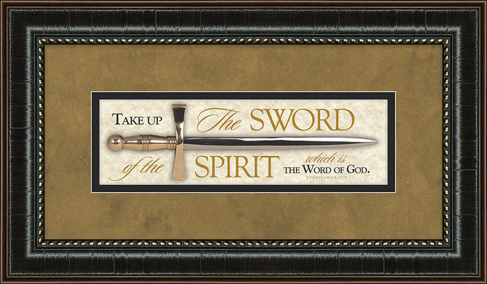 The Sword of the Spirit Mini-Sword Framed Art
