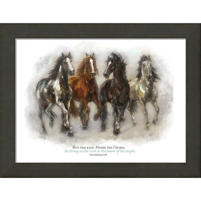 Run the Race Framed Canvas